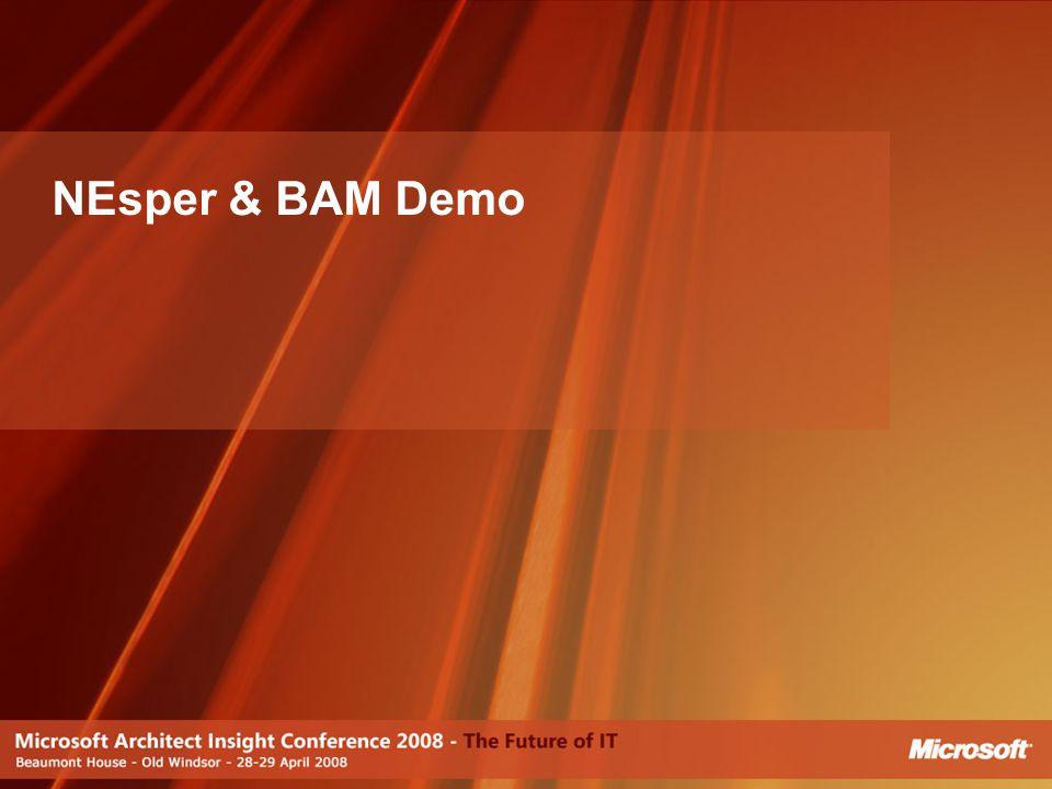 NEsper & BAM Demo [JJ]